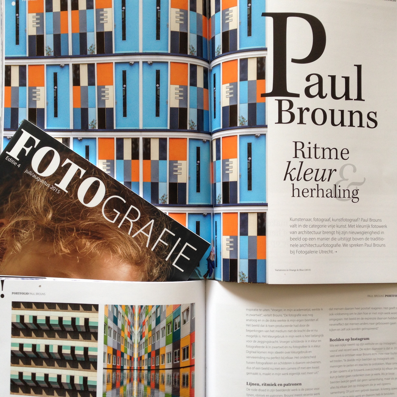 Paul Brouns Artikel in FOTOgrafie 2015